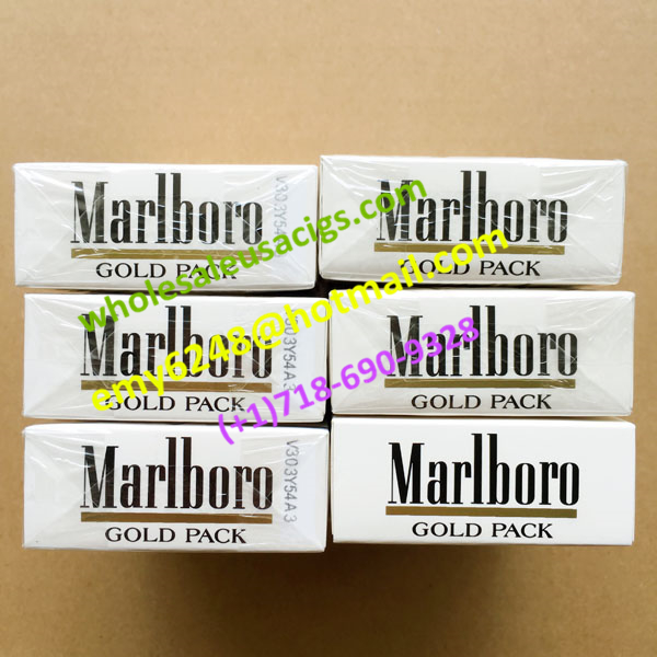 Big Bargains 6 Cartons Marlboro Gold Regular Cigarettes Smooth Original Flavor